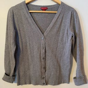 Merona Women's Stretch Knit Cardigan, Gray